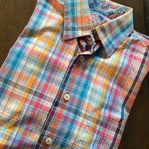 ALAN FLUSSER Button Down Shirt. Size Medium
